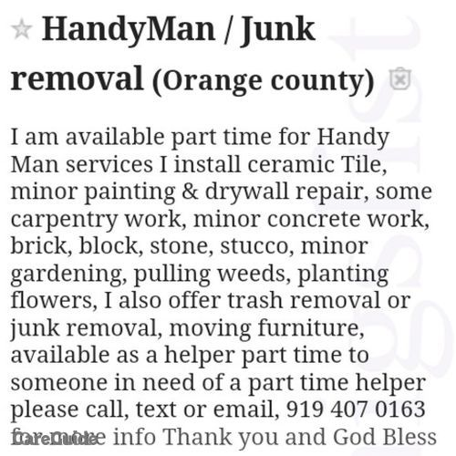 Handyman Provider Hal Hardy's Profile Picture