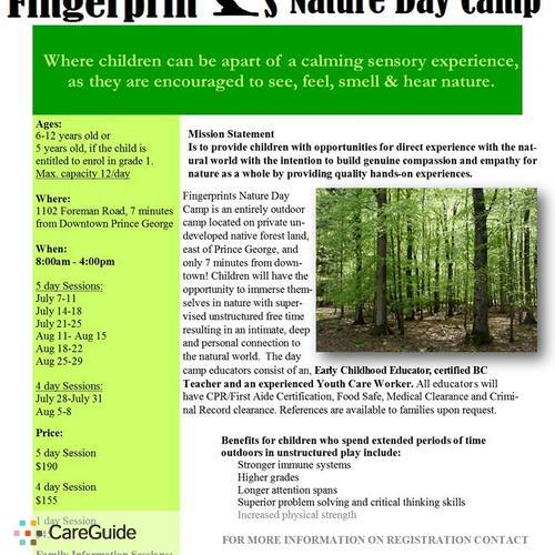 Child Care Provider Fingerprints Nature Day Camp's Profile Picture