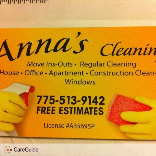 Housekeeper Provider Anna J's Profile Picture