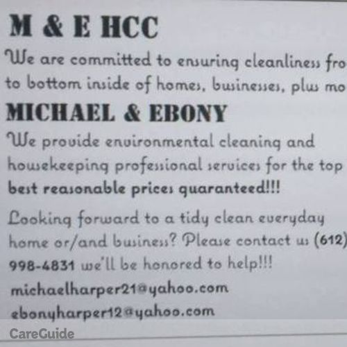 Housekeeper Provider Ebony & Michael H's Profile Picture