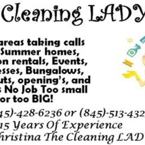 """The Cleaning Lady specialist """"You Got The Grime We Got The Time""""!"""