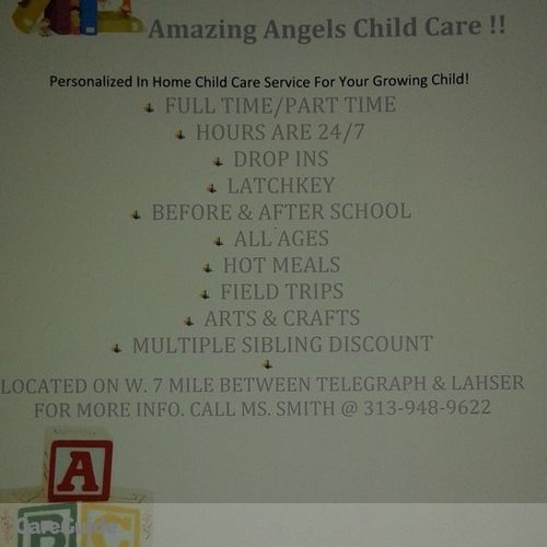 Child Care Provider Amazing Angels C's Profile Picture
