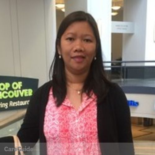 Canadian Nanny Provider Maricar T's Profile Picture