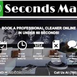 It only takes 60 Seconds! Book a cleaning now!.