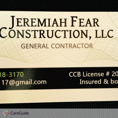 Painter Provider Jeremiah Fear's Profile Picture