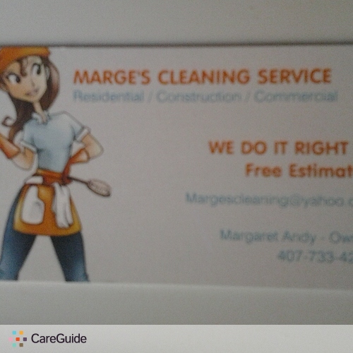 Housekeeper Provider Margaret Andy's Profile Picture