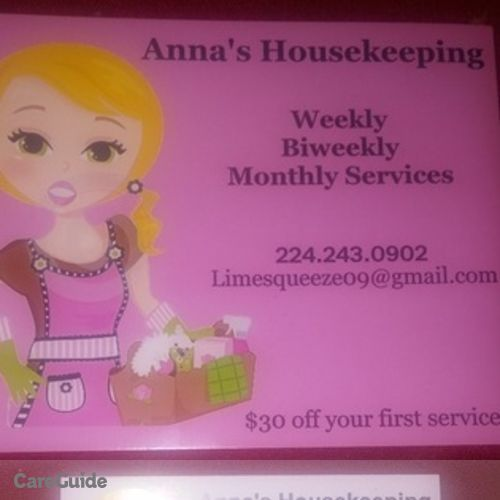 Housekeeper Provider Anna Kacso's Profile Picture