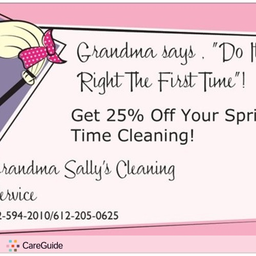 Housekeeper Provider Grandma Sally's Profile Picture