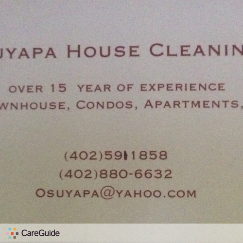 Housekeeper Provider Suyapa O's Profile Picture