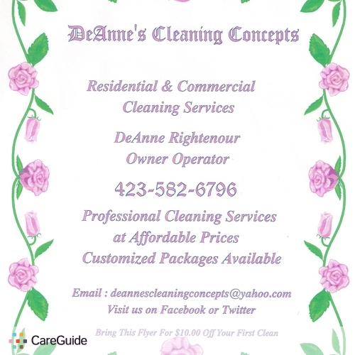 Housekeeper Provider DeAnne's Cleaning Concepts 's Profile Picture