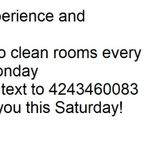 Cleaner Maid Wanted for Cleaning Rooms