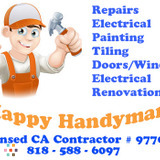The Happy Handyman! Remodeling & Repairs! CA Licensed (Greater L.A. Area.)