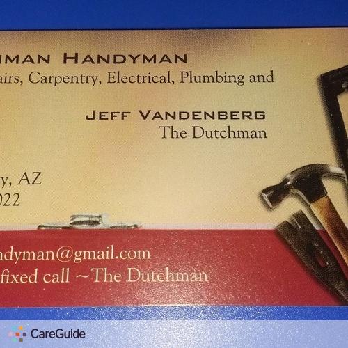 Handyman Provider Jeff Vandenberg's Profile Picture