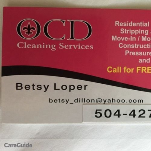 Housekeeper Provider Betsy Loper's Profile Picture