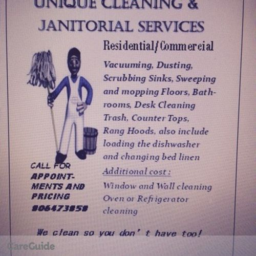 Housekeeper Provider Unique cleanin Janitorial services's Profile Picture