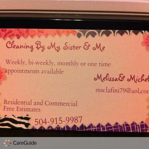 Housekeeper Provider Melissa and Michelle's Profile Picture