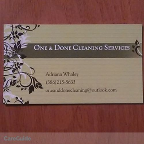 Housekeeper Provider One & Done Cleaning Services's Profile Picture