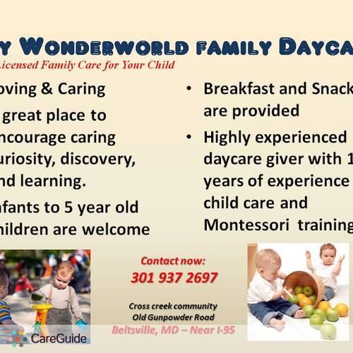 Child Care Provider Chandrika M's Profile Picture
