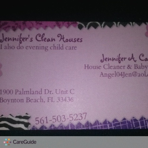 Housekeeper Provider Jennifer Carter's Profile Picture