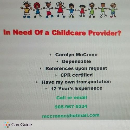 Child Care Provider Carolyn McCrone's Profile Picture