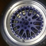 Custom painted rims