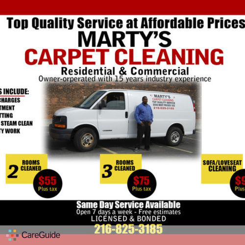 Housekeeper Provider Marty's carpet cleaning Llc's Profile Picture