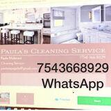 Paula cleaning