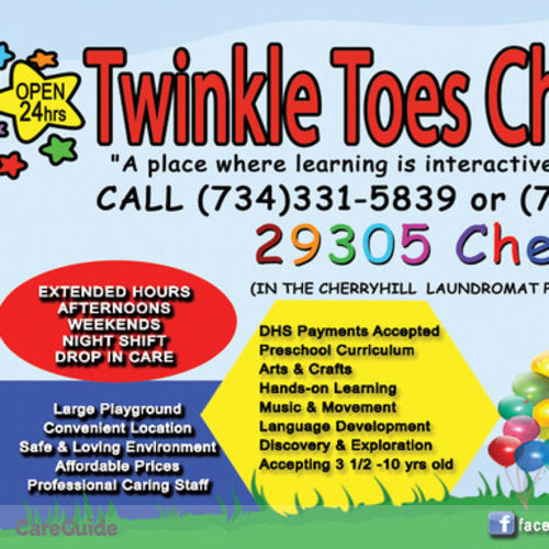 Child Care Provider Twinkle Toes Childcare C's Profile Picture