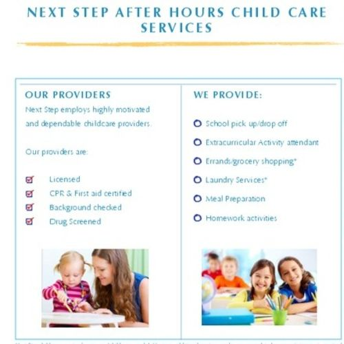 Child Care Provider Next Step Child Care Services L Gallery Image 1