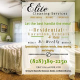 ELITE specializes in vacation rentals, Commercial, & Residential Cleaning