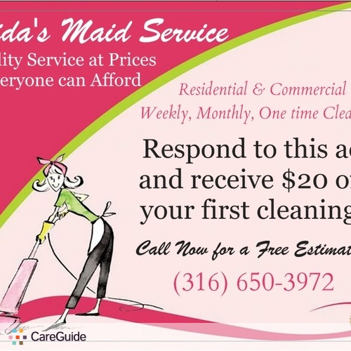 Housekeeper Provider Mida's Maid Service, LLC. 's Profile Picture