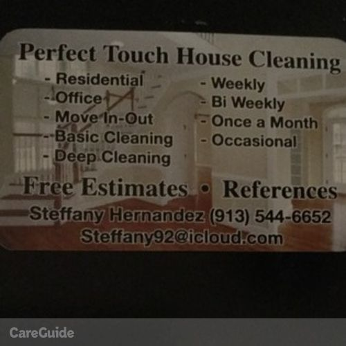 Housekeeper Provider Steffany Hernandez's Profile Picture