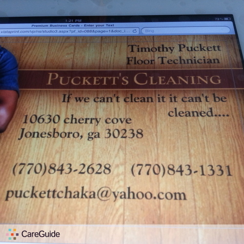 Housekeeper Provider Puckett's Cleaning's Profile Picture