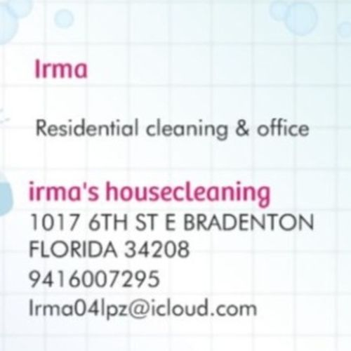 Housekeeper Provider Irma L's Profile Picture