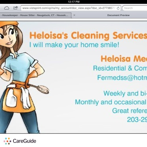 Housekeeper Provider Heloisa Medeiros's Profile Picture