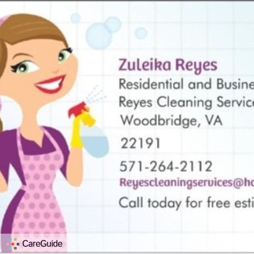 Housekeeper Provider Zuleika R's Profile Picture