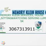 Memory Klein Services house sitter ,house watch service provider serving Lumsden Sk area