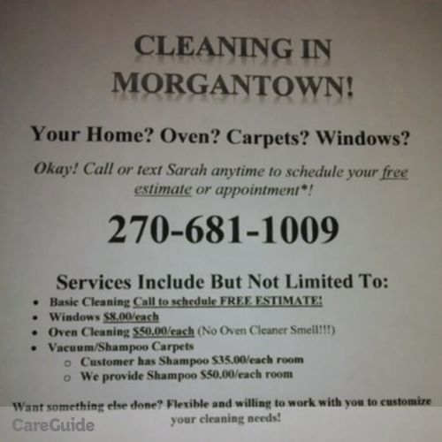 Housekeeper Provider Sarah Moran's Profile Picture