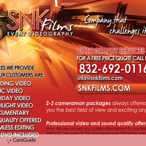 Videographer Provider Snk Films's Profile Picture