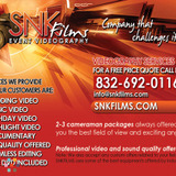 Wedding ceremony, short film, birthday parties or any type of video service for your business.