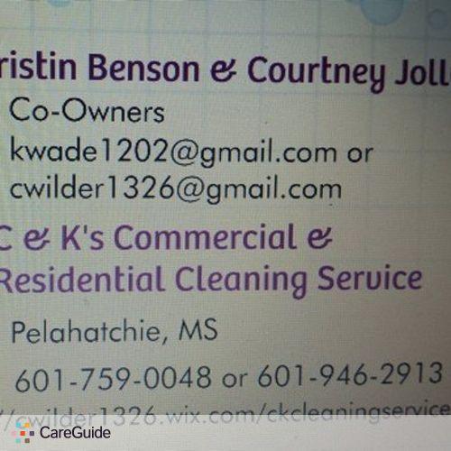 Housekeeper Provider Kristin Benson's Profile Picture