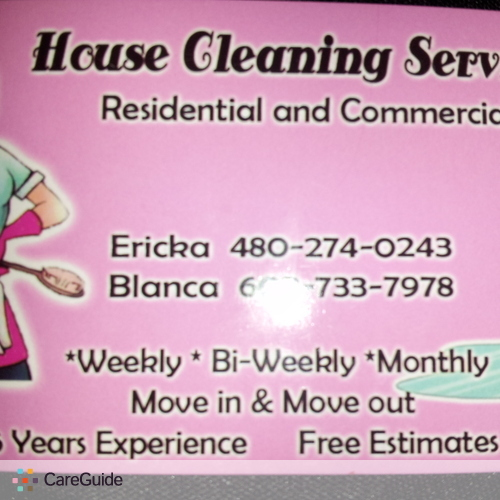 Housekeeper Provider Erika R's Profile Picture