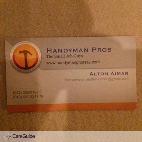 Handyman Provider Alton Aimar's Profile Picture