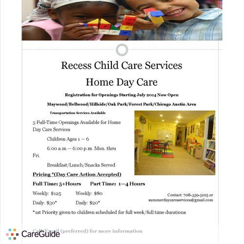 Child Care Provider Recess Child Care Services's Profile Picture