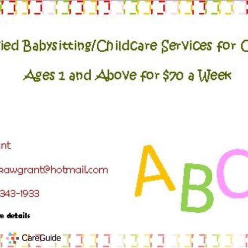 Child Care Provider Tamika Grant's Profile Picture