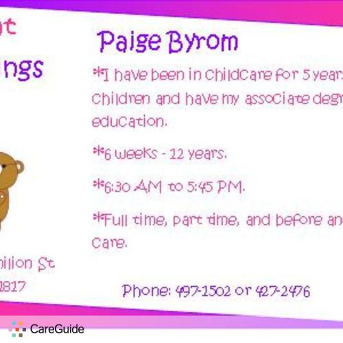 Child Care Provider Paige Byrom's Profile Picture