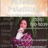 Present Pet Sitting Professional in Woodland: Parsons Pet Sitting