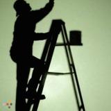 Painter in Hillside