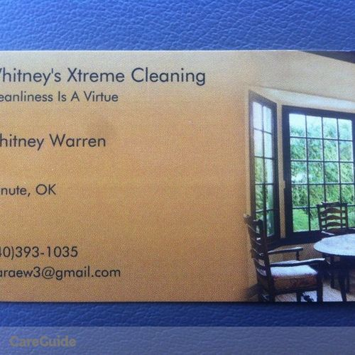 Housekeeper Provider Whitney W's Profile Picture
