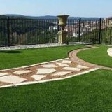 Synthetic Artificial Turf & Rock Design Sod Grass as well